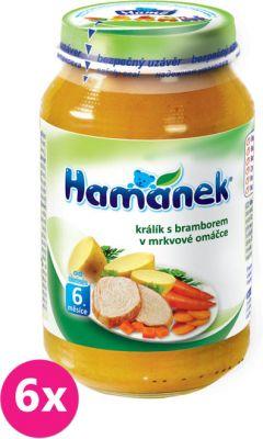 6x HAMÁNEK Králík s bramborem v mrkvové omáčce (230 g) - maso-zeleninový příkrm