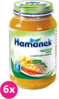 6x HAMÁNEK Halušky s bravčovými kúskami (230 g) – mäsovo-zeleninový príkrm