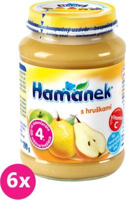 6x HAMÁNEK S hruškami (190 g) - ovocný příkrm