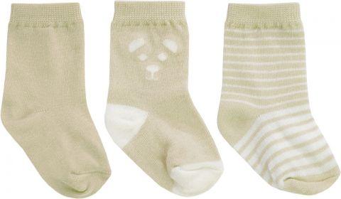 JACKY Ponožky set 3 ks, vel. 62/68 - béžová
