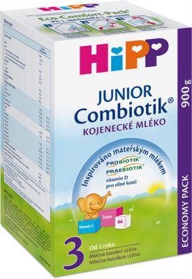 HIPP 3 JUNIOR Combiotik (900 g) - pokračovací mléčná kojenecká výživa