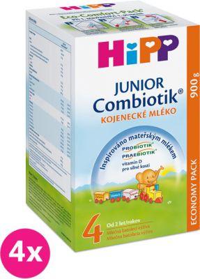 4x HIPP 4 JUNIOR Combiotik (900 g) - následná mliečna dojčenská výživa
