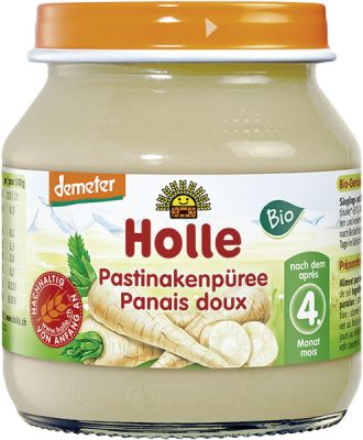 6x HOLLE BIO Paštrnákové pyré (125 g) – zeleninový príkrm