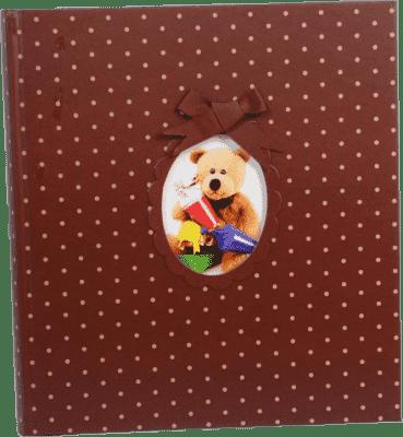 Fotoalbum na wklejane rogi – brązowy