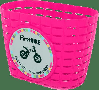 FIRST BIKE Košík ružový