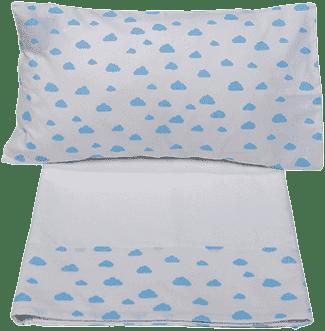 GLOOP Obliečky (polšářek, prestieradlo na prikrytie, plachta biela) Blue Clouds