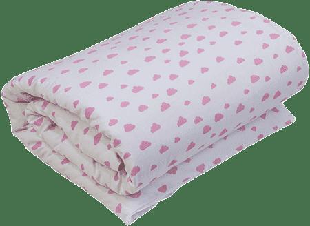 GLOOP Detská perinka do postieľky s výplňou 100x150 Pink Clouds