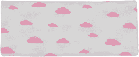 GLOOP Pieluszka muślinowa 100x100 Pink Clouds