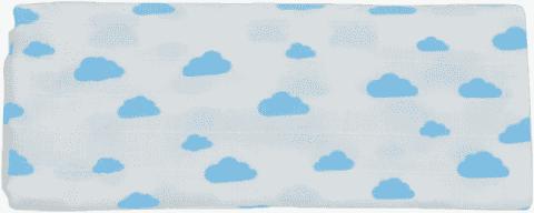 GLOOP Pieluszka muślinowa 100x100 Blue Clouds