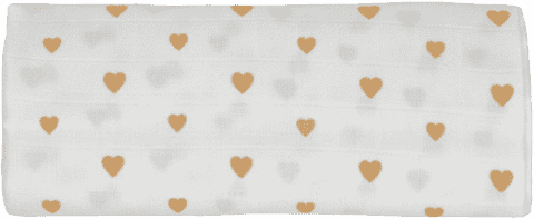 GLOOP Pieluszka muślinowa 100x100 Little Hearts