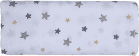 GLOOP Pieluszka muślinowa 100x100 Stars