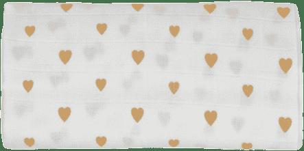 GLOOP mušelínové plienka 70x70 Little Hearts