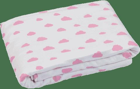 GLOOP Dětská deka z organické bavlny Pink Clouds