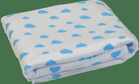GLOOP Detská deka z organickej bavlny Blue Clouds