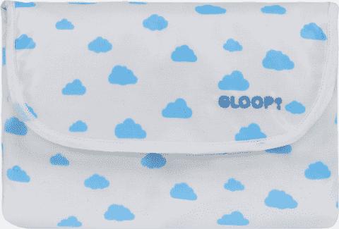 GLOOP Mini podróżna podkładka do przewijania Blue Clouds