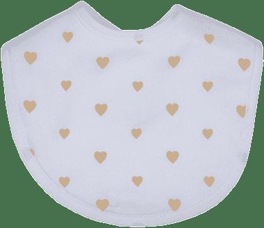 GLOOP Śliniak z organicznej bawełny Little Hearts (2 szt.)