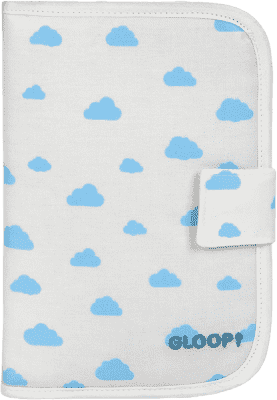 GLOOP Puzdro na doklady pre bábätko Blue Clouds