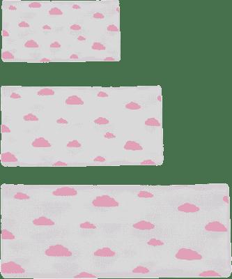 GLOOP mušelínové plienka 3 veľkosti Pink Clouds