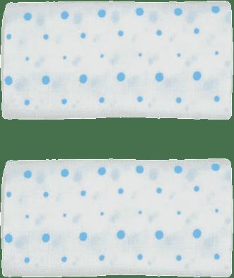 GLOOP Pieluszka muślinowa 50x50 Blue Dots (2 szt.)