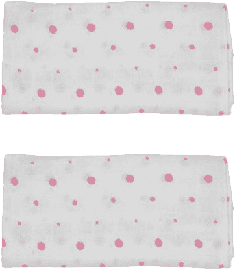 GLOOP Mušelínová plena 50x50 Pink Dots (2ks)