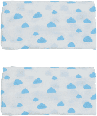 GLOOP mušelínové plienka 50x50 Blue Clouds (2ks)
