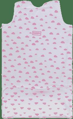 GLOOP Śpiworek do łóżeczka z organicznej bawełny 0 - 6 miesięcy Pink Clouds