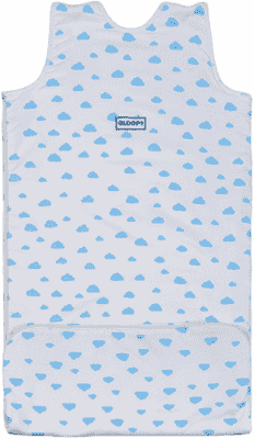GLOOP Śpiworek do łóżeczka z organicznej bawełny 6 - 36 miesięcy Blue Clouds