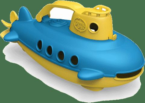 GREEN TOYS Ponorka žltá rukoväť