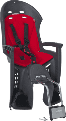 HAMAX Fotelik rowerowy Smiley Grey/Red
