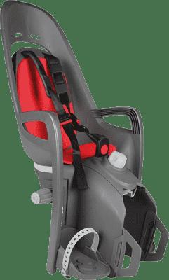 HAMAX Caress Zenith Fotelik rowerowy z niezamykanym zamkiem – szary/czerwony