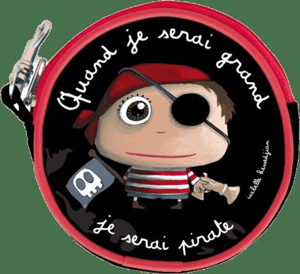 LABEL TOUR Dziecięcy portfelik Pirat