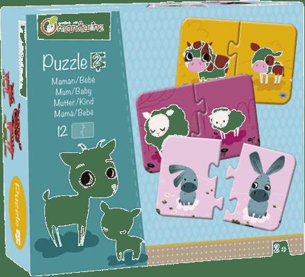 AVENUE MANDARINE Duo puzzle Mamička a mláďa 12 ks