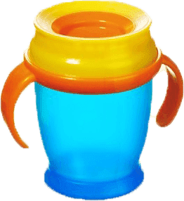 LOVI Kubek 360˚ MINI 210 ml z uchwytami - niebieski