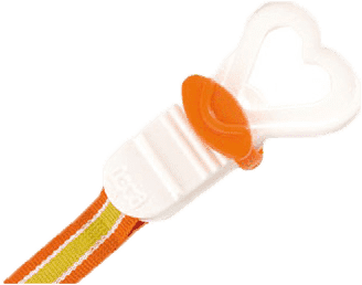 LOVI Šňůrka na šidítko - oranžová