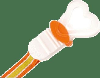 LOVI Šnúrka na cumlík - oranžová