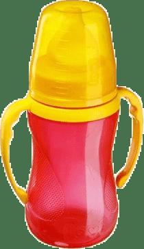 LOVI Tréninkový hrníček s pítkem 250ml bez BPA – červená