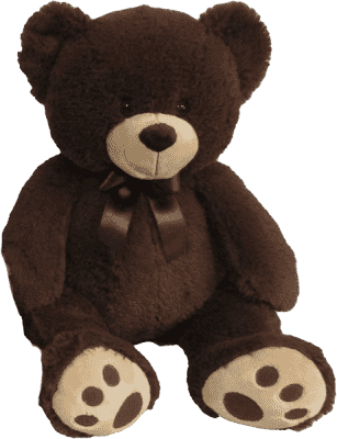 MAC TOYS Plyšový medvedík tmavo-hnedý, 60 cm