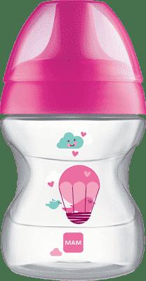 MAM Hrnek na učení LEARN TO DRINK CUP 190 ml, 6+ měsíců-růžová