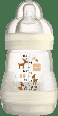 MAM Fľašu anti-Colic 160ml, 0+ mesiacov – biela