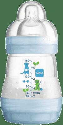 MAM Láhev anti-colic 160 ml, 0+ měsíců – modrá
