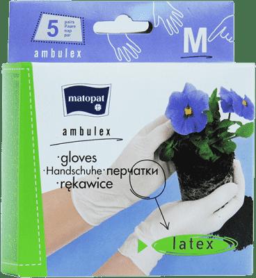 AMBULEX Rukavice latexové púdrované M, 10 ks