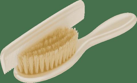 ROTHO® Comb&Brush - Hřebínek s kartáčem na vlásky Perlwhite Creme
