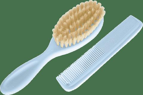 ROTHO® Comb&Brush - Hřebínek s kartáčem na vlásky Babyblue Pearl