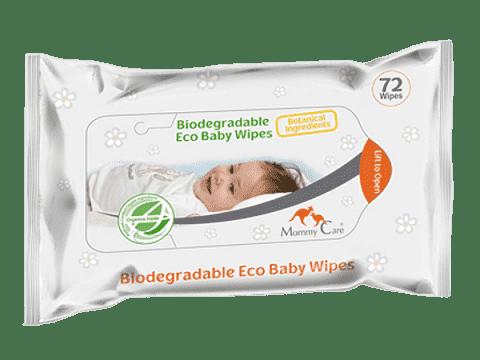 MOMMY CARE biodegradable Eco Baby Wipes 72 ks - detské vlhčené obrúsky