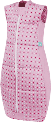 ERGOPOUCH Organic Cotton - Spací pytel Pink Polka Dots 2-12 m