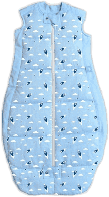 ERGOPOUCH Organic Cotton - Spací pytel Rocket Blue 2-12m