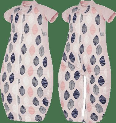 ERGOPOUCH Sleep suit Bag - Spací vak Pink Leaf 3-6 rokov