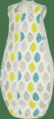 ERGOPOUCH Organic Cotton & Bamboo - Spací vak Aqua Leaf 12-36