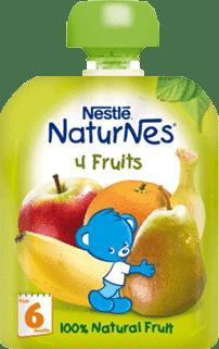NESTLÉ NATURNES 4 ovocie (90g) - ovocná kapsička