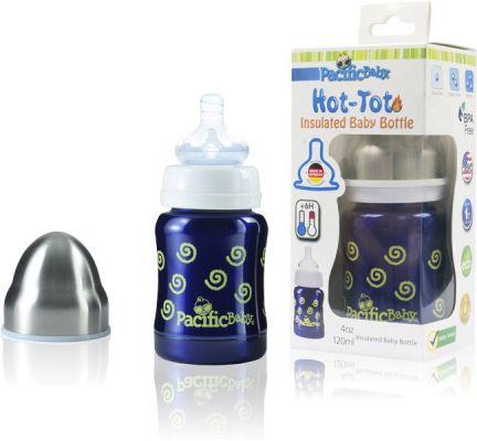PACIFIC BABY Hot-Tot Termoska 125 ml modrá-špirálky  af5ad7eee0c